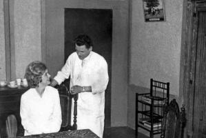 Paula Ritsen en Niek de Korte (voor 1970).