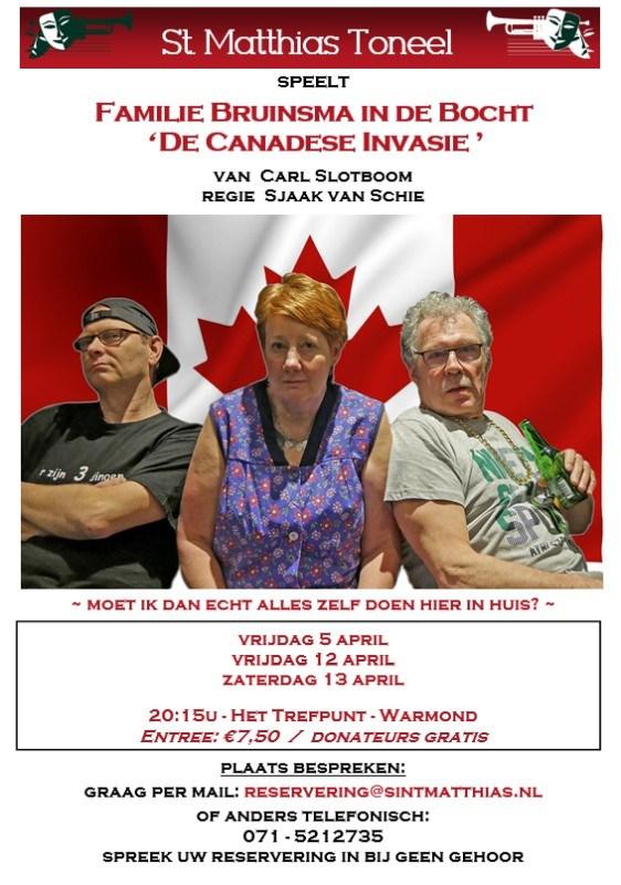 """De familie Bruinsma in de Bocht """"De Canadese Invasie"""" - april 2019 - regie Sjaak van Schie"""